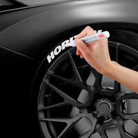 WHITE CAR TYRE MARKER PAINT PEN FOR TIRE TYRES METAL FABRIC PERMANENT PEN