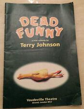 1994 Vaudeville Theatre: Zoe Wanamaker Niall Buggy Beatie Edney in DEAD FUNNY