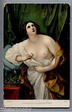 RENI Cleopatra si uccide con l'aspide Nudo Nude Girl PC circa 1910 Stengel