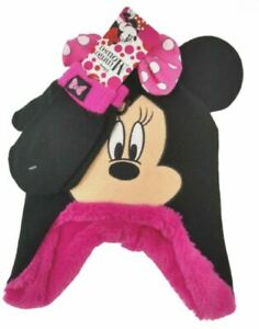 Toddler Girl's Disney Minnie Mouse Hat and Mitten Set, 2T-4T