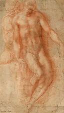 Pieta Michelangelo Nackter Mann Mensch Anatomie Bauch Felsen Stein B A3 02883