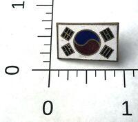 FLAG of SOUTH KOREA  Authentic US ARMY Screw-Back PIN  KOREAN WAR ww2 military