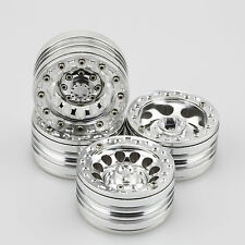 "ALIENTAC Four(4) 1.9"" Wide 1"" Alloy Beadlock Wheel Rim for 1/10 RC Model #026"