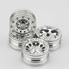 "ALIENTAC Four(4) 1.9"" Wide 1"" Alloy Beadlock Wheel Rim for 1/10 RC Model #026"