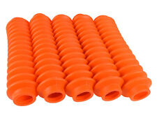 FLUORESCENT ORANGE Shock Boots 5 PACK for Jeep Truck and SUV UNIVERSAL FITMENT