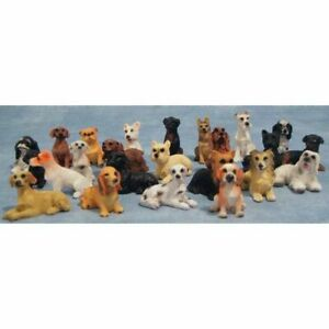 1/12 Streets Ahead Dolls House Assorted miniature cute dogs, puppy 8/823
