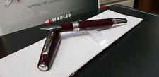 Marlen Silhouette Fountain Pen | Burgundy Italian Resin | Piston | Brand New