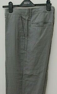 Marks & Spencer Mens Collection premium linen rich regular fit trousers W36 L29