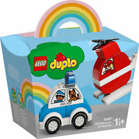 10957 LEGO DUPLO My First Fire Helicopter & Police Car 14 Pieces Age 1.5 Years+