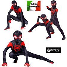 Spiderman Costume Carnevale Spider Man Nuovo Universo Bimbo Uomo SPM016 SD