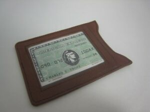 New Brown Colibri Leather ID Holder Weekend Wallet