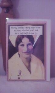 Get well soon card Greeting card Funny Joke Humour Humourous Women
