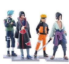Naruto set 4 figurines Brinquedos Saske Shippuden Uzumaki Kakashi Hatake Sakura