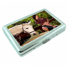 Farmers Daughter Pin Up Girls D4 Silver Metal Cigarette Case RFID Protection