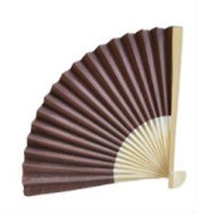 Chocolate BROWN Paper Fan Outdoor Wedding Favors