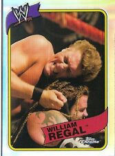 2008 TOPPS WWE HERITAGE CHROME 3 WILLIAM REGAL REFRACTOR CARD #46 HARD TO FIND!!