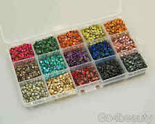15 Cols Total 10800pcs Hot Fix Iron on Metal Studs (4mm) + Free Gift