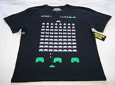 Space Invaders Video Game Mens Black Printed T Shirt Size M New