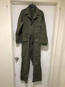 Vintage WW2 1940s Herringbone Twill Belt HBT Flight Jump Suit Coveralls Overalls