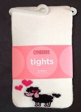 NWT Gymboree Tres Chic 12-18-24 Months Poodle Dog & Heart Tights 12-24