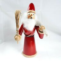 Wooden Santa With Bag Decor Piece Shocked Angry Look
