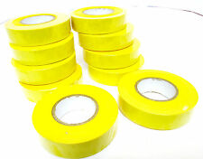Yellow Insulating  / Insulation  Electrical Tape 19mm  x 20m  Pack of 10 AD003 Y