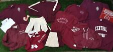 Huge Lot 1950s - 2000 Central High School Logan Mills Sweater Volleyball Maroon