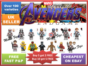 Avengers Minifigures Super Hero Mini figures Marvel ENDGAME Superhero Bricks TOY