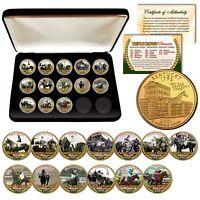 2018 TRIPLE CROWN HORSE WINNERS 24K Gold KENTUCKY Quarters 13-Coin Set BOX & COA