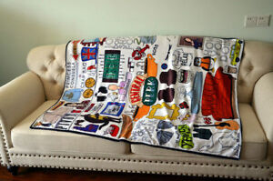 TV Series Friends Central Perk Hugsy Blanket Soft Sofa Nap Throw Blanket Decor