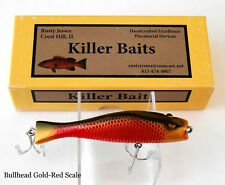 Custom made Bullhead, Gold Red Scale,  Private Collection by Killer Baits