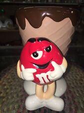 Vintage M&M Ice Cream Cone 6 Inch Red Peanut