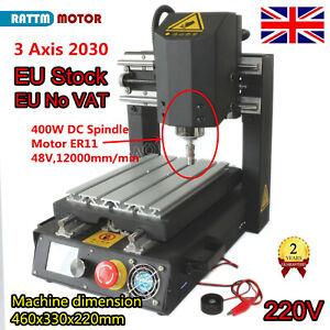 EU➝ CNC Router 2030 3 Axis Desktop Engraver Cutting Milling Machine+400W Spindle