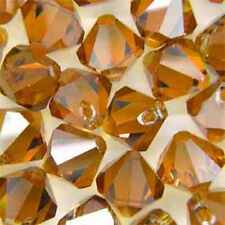 10 GENUINE SWAROVSKI 8MM 6301 TOP DRILLED TOPAZ AB..Clearing Stock.