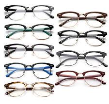 Clear Lens Glasses Classic Retro Horn Rim Men Women Nerd Fashion Eyewear UV 100%