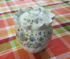 Vintage Marx & Gutherz Carlsbad Biscuit Jar Floral Austria