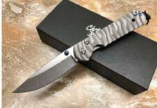 7''New CNC D2 Blade Sebenza 21 Style Full TC4 TITANIUM Handle Folding knife DF05