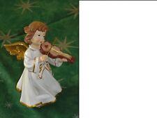 Engel beige Kunststoff mit Geige 24cm Weihnachtsengel Nostalgieengel Weihnachten