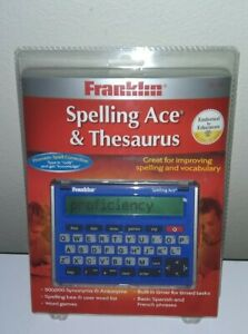 SA-209 Franklin Electronic Spelling Ace & Thesaurus - BRAND NEW SEALED