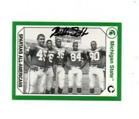 Bubba Smith Michigan State MSU Spartans football signed card DECEASED 1965 d