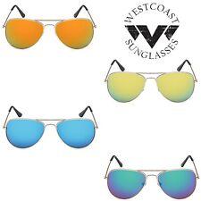 Fashion Women Men Unisex Metal Aviator Mirrored Lens Beach Summer Sunglasses