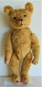 """Antique Steiff? Mohair Teddy Bear Shoe Button Eyes 16"""" Fully Jointed Must See!"""