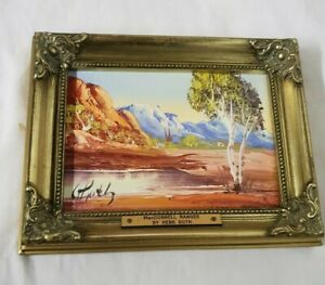 Oil Painting MacDonnell Ranges By Henk Guth 1996 Signed 18x23cm P31