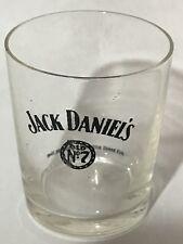 Jack Daniels Pre Prohibition Black Broken Wheel Shot Glass - Thin Wall - Whiskey