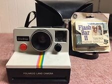 Polaroid OneStep Plus Instant Film Camera with Case and  Flash BarII Stock #M102