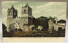 early 1900s Postcard Mission Concepcion De Acuna San Antonio Texas TX PC