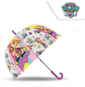 "Licensed 18"" Paw Patrol Team Skye Auto Dome Umbrella Wipeable Fabric Kids Gift"