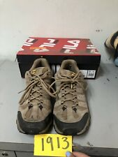 FILA Travail Brown Leather Mesh Low Top Hiking Trail Athletic Shoes Men's 12