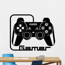 Gamer Wall Decal Video Gaming Room Vinyl Sticker Gamepad Art Decor Mural 139xxx