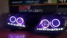 TOYOTA HILUX HEADLIGHTS WITH DRLS AND MULTICOLOURED HALO RINGS